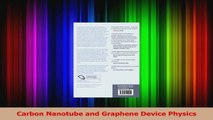 PDF Download  Carbon Nanotube and Graphene Device Physics Read Online