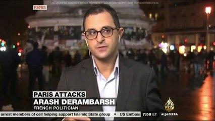 Attentat a Paris - Arash Derambarsh en direct sur Al Jazeera USA