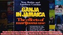 Ganja in Jamaica A Medical Anthropological Study of Chronic Marihuana Use New Babylon