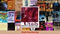 Read  Utah Bouldering Ebook Free