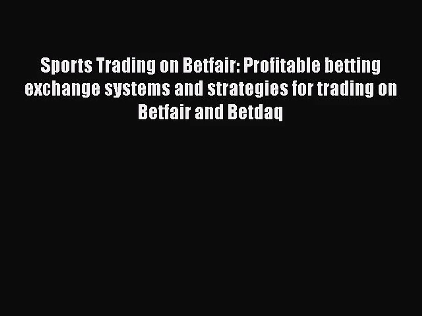 betting exchange systems