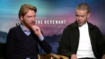 Domhnall Gleeson and Will Poulter Exclusive Interview THE REVENANT (2015)