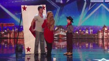 See 11 year old Edward Pinder throw knives at Simon Cowell | Britains Got Talent 2014