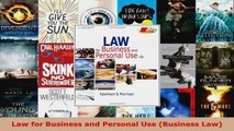 PDF Download  Law for Business and Personal Use Business Law Download Online