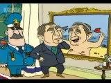 George Bush and Saddam Hussein