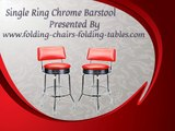 Single Ring Chrome Barstool - Folding Chairs Tables Larry Hoffman