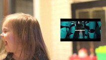 Happiest Star Wars Reaction - Little Girl goes crazy watching Star Wars VII Trailer