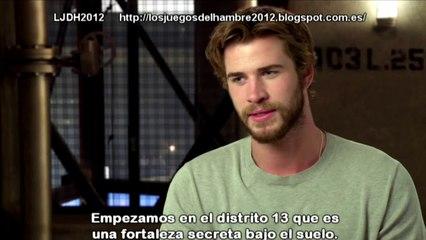 The Hunger Games Mockingjay - Part 1 - Liam Hemsworth Interview (2014) Subtitulado Español