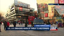 China terror alert: U.S, U.K. embassies warn of threat to westerners