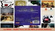 Read  La Bible  Audio livre 10 CD MP3 French Edition PDF Online