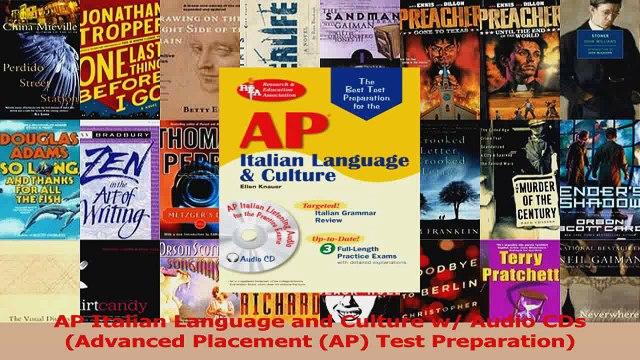 AP Italian Language and Culture w Audio CDs Advanced Placement AP Test Preparation PDF