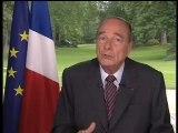 Allocution du Président Chirac