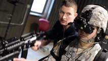 US Soldiers Training With Revolutionary Virtual Weapons Dismounted Soldier Training System