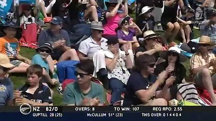 watch Brendon McCullum's half century lifted New Zealand to a seven-wicket win over Sri Lanka
