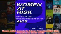 Women at Risk Issues in the Primary Prevention of AIDS Aids Prevention and Mental