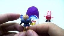 kinder surprise eggs Peppa Pig Español play doh surprise eggs lego disney cars toys smurfs lego