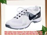 Nike Ladies Lunar Summer Lite Golf Shoes 2013 Ladies Wht/Blk/Met Silv 5 Reg Ladies Wht/Blk/Met