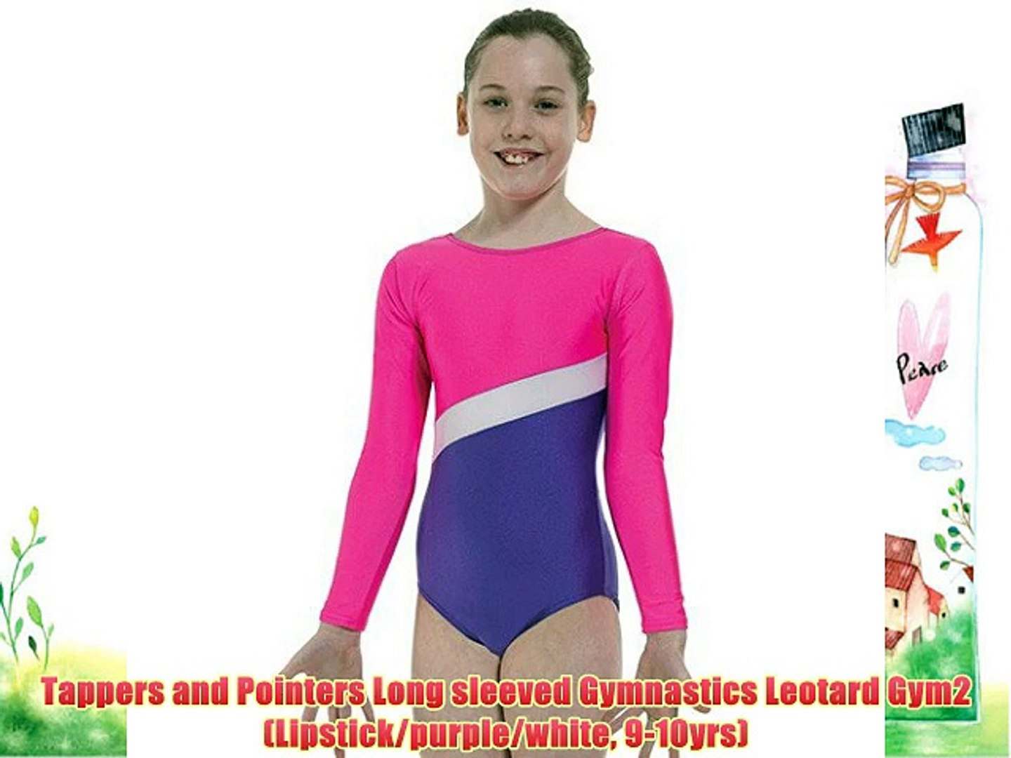 Tappers /& Pointers Girl/'s Gymnastic Leotard Gym 5 Pink-Red Leotard