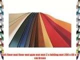 Soft floor mat floor mat gym mat mat 2 x folding mat 200 x 80 x 8 cm Green