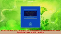 PDF Download  Arbitration of Commercial Disputes International and English Law and Practice Download Full Ebook