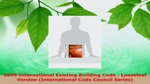 Read  2009 International Existing Building Code  Looseleaf Version International Code Council EBooks Online