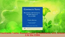 PDF Download  Contracts Texts Restatement 2d Contracts UCC Article 2  the CISG Read Full Ebook