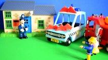 fireman sam story Fireman Sam Episode Peppa Pig Police Car Fire Engine Pontypandy Kids Story Fun