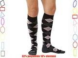 Zensah Argyle Compression Socks - Black/Grey/Pink Large