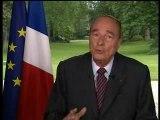 Dernier discours de Jacques Chirac 15 mai