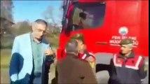 Jandarma Komutanı ile Belediye Başkanı tartışıyor