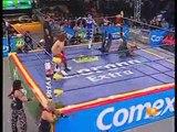 03 Aero Star, Extreme Tiger & Jack Evans vs. La Milicia