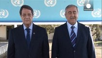 Greek and Turkish Cypriot leaders make historic joint appeal for reunification