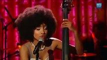 Esperanza Spalding sings Overjoyed by Stevie Wonder in one version full of groove
