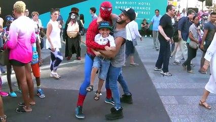 CRAZY STREET FIGHT! SPIDERMAN vs ADAM!!