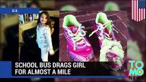 Dragged by bus: Girls arm gets stuck in school bus door, drags her for almost a mile - TomoNews