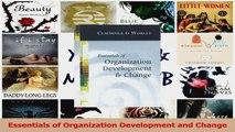 Essentials of Organization Development and Change PDF