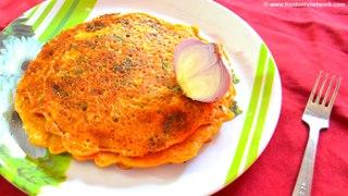 Vegetarian Omelette | Easy Dinner Recipe | Pan Cakes | Indian Recipes-29