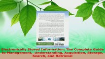 Read  Electronically Stored Information The Complete Guide to Management  Understanding EBooks Online