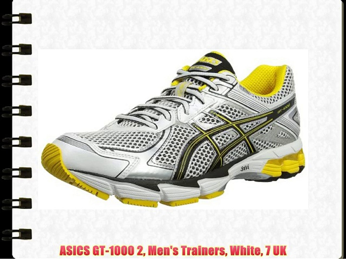 rencontrer d7f5a 7dc9c ASICS GT-1000 2 Men's Trainers White 7 UK
