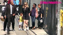 Charlize Theron & Son Jackson Arriving To Jimmy Kimmel 7.20.15 TheHollywoodFix.com