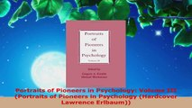 Read  Portraits of Pioneers in Psychology Volume III Portraits of Pioneers in Psychology EBooks Online