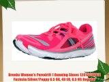 Brooks Women's Puredrift 1 Running Shoes 1201351B814 Fuchsia/Silver/Poppy 6.5 UK 40 EU 8.5