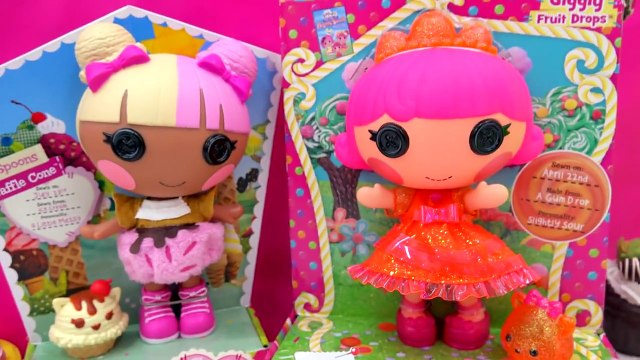 Num Noms Surprise Blind Bag Toy Unboxing & Lalaloopsy Spoons Waffle Cone Giggly Fruit Drop