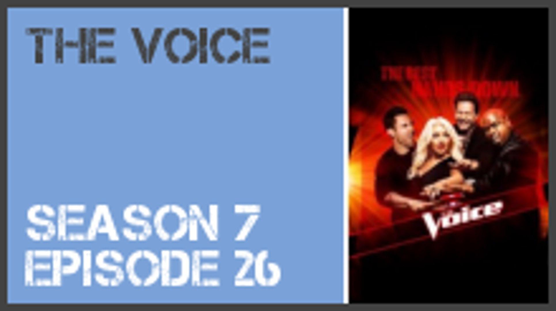 The Voice season 7 episode 26 s7e26