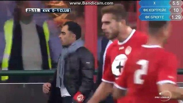 KV Kortrijk - Club Brugge Red Card Papazoglou