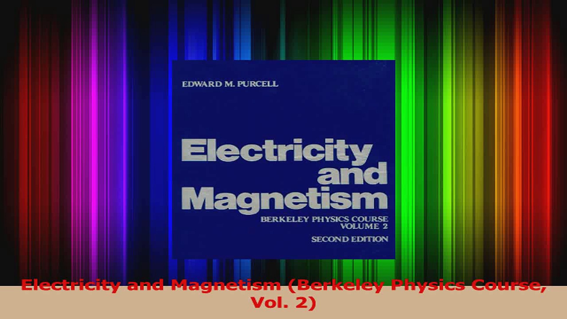 PDF Download Electricity and Magnetism Berkeley Physics Course Vol 2 PDF  Full Ebook