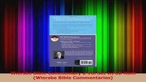 PDF Download  Wiersbe Bible Commentary 2 Vol Set wCD Rom Wiersbe Bible Commentaries Download Online
