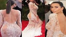 Kim Kardashian Hot Nakked Dress At MET Gala 2015