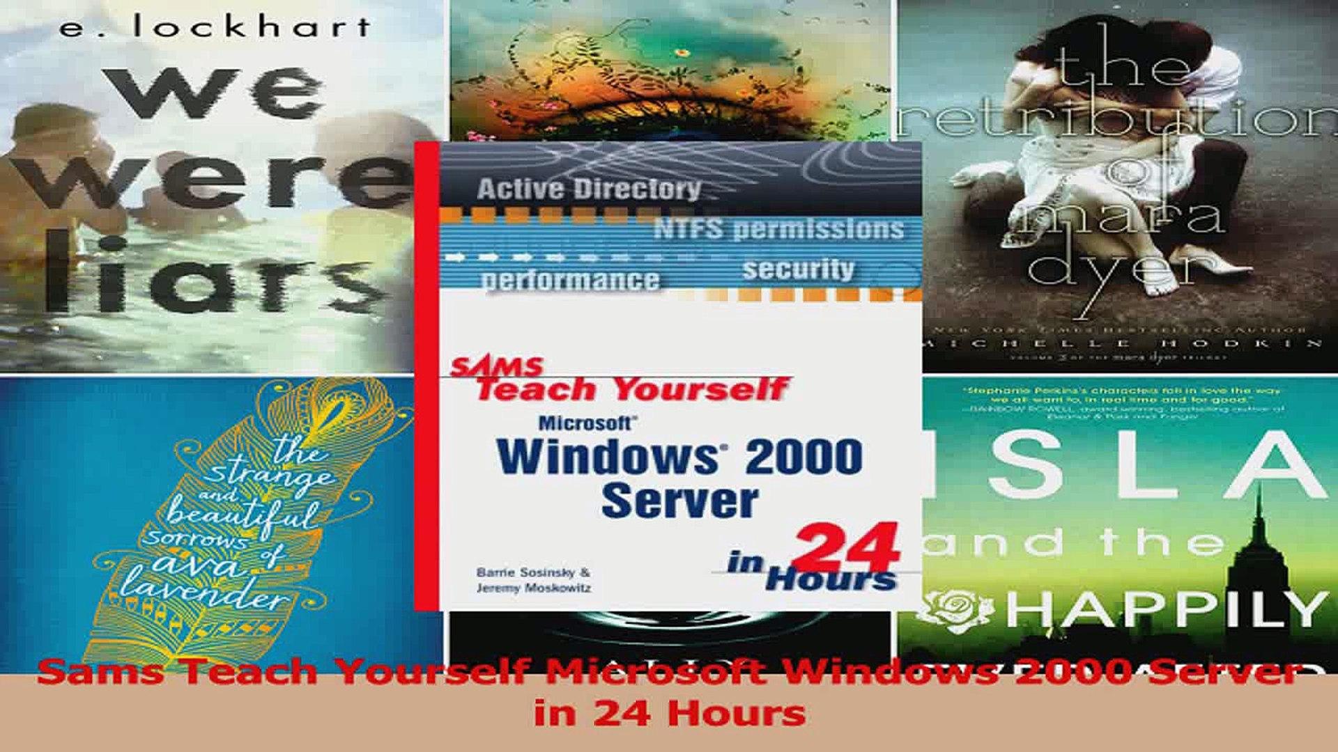 PDF Download Sams Teach Yourself Microsoft Windows 2000 Server in 24 Hours  Read Online