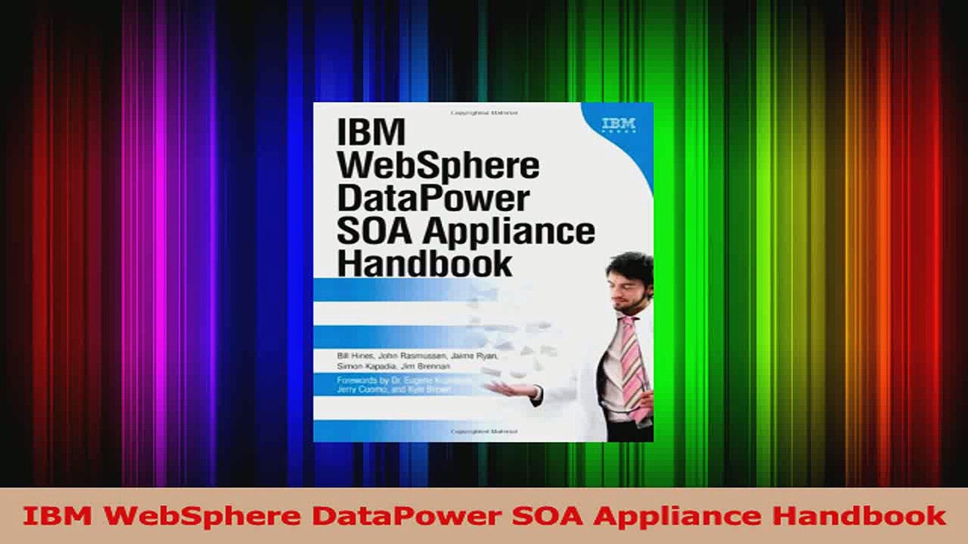 Ibm websphere datapower soa appliance handbook